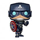 Funko POP! MARVEL: Avengers Game - CAPTAIN AMERICA (Stark Tech Suit) (Merchandise)